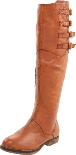 Steve Madden Women's Miidori Boot,Cognac Leather,6 M US
