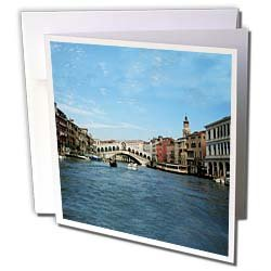 Vacation Spots - The Rialto Bridge Venezia Italy - Greeting Cards-12 Greeting Cards with envelopes
