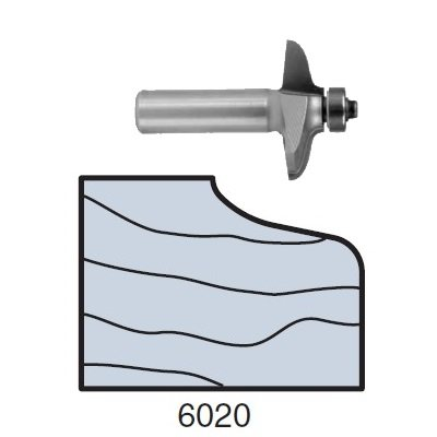 Whiteside 6020 Door Edge Bit CT 1-9//16 LD 3/8 CL 1/2 SH 2 FL