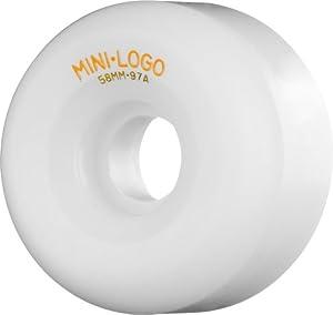 Buy Mini-Logo Skateboards A- 58mm 97A Skateboard Wheel, White by Mini-Logo Skateboards
