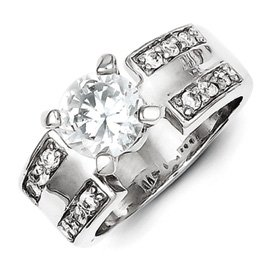 Genuine IceCarats Designer Jewelry Gift Sterling Silver Cz Ring Size 8.00