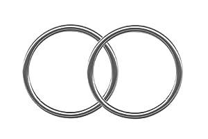 Pair of Steel Segment Rings-18g-16g-14g-Custom Fit Lip Rings-Helix-Tragus-Cartilage Earrings-Nose Rings