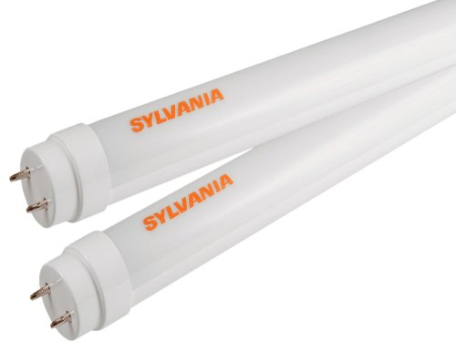 Sylvania 71257 Ultra Led 10-Watt 24-Inch T8 Lamp With 5000K Color Temperature And Case Of 4 Lamps