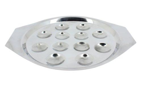 Util'Home 4615205 Set de 6 Assiettes à Escargots 12 Trous en Inox
