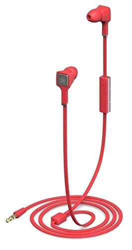 Ministry of Sound Audio In Auricolari In-Ear con Isolamento Acustico, Custodia Protettiva, Telecomando e Microfono In-Line, Rosso/Nero