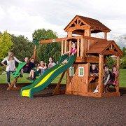 Tanglewood Cedar Wood Swing Set front-749071