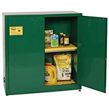 "Eagle PEST32 Pesticide Safety Cabinet, Manual Closing, 2 Doors, 43"" Width x 44"" Height x 18"" Depth, 30 Gallon Capacity"