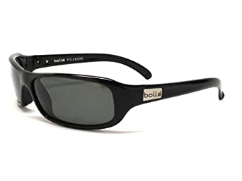 Amazon.com: Bolle Sunglasses Fang Shiny Black Frame with Polarized