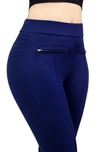 Women High Quality Design Comfort Stretch Zipper Casual Dress Pants