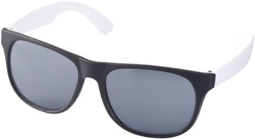 """Retro Sonnenbrille - UV 400 zertifiziert - Sonnenbrille im """"Nerdlook"""" (schwarz und weiß)"""