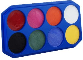 18ML Jumbo 8 Color Face Paint