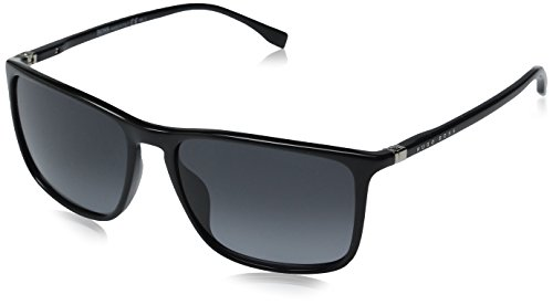 Boss - Hugo Boss - BOSS 0665/S, Geometrico, OPTYL, unisex, SHINY BLACK/GREY SHADED(D28/HD),57/16/145