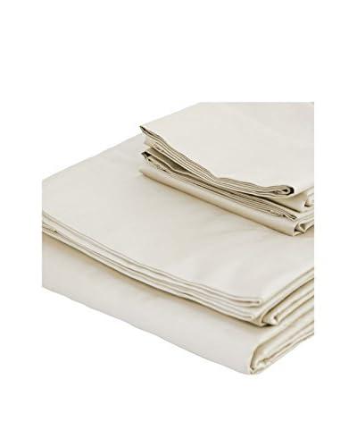 bambeco 300 TC Sateen Organic Cotton Solid Sheet Set  [Ivory]