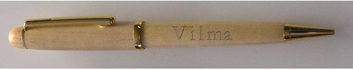 Engraved maple pen with Vilma