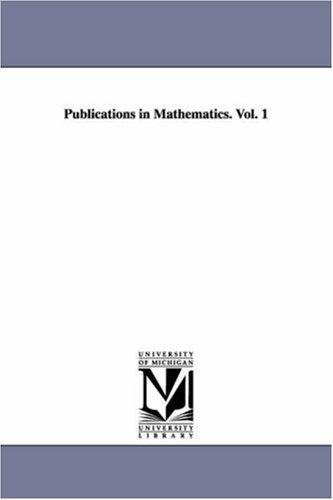 Publications in Mathematics. Vol. 1