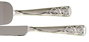 Hortense B. Hewitt Wedding Sparkling Love Silver-Plated Cake Server Set - Lesbian Wedding Server Set