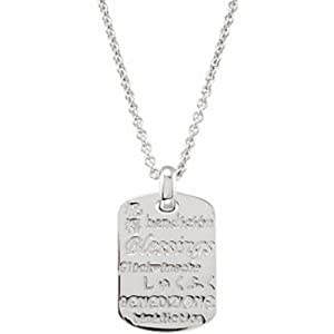 IceCarats Designer Jewelry Sterling Silver Sterling Silver .010 Ctw Diamond Blessings 18 Necklace