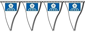 Chrysler Dealer Pennants (12 x 18 Inches, 60 Foot String, Blue)