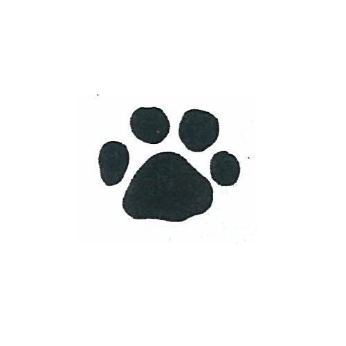 ": Dog Rubber Stamp - Paw Print Small-A4 (Size: 1/2"" Wide X 3/8"" Tall"