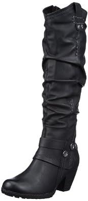 Marco Tozzi 2-2-25518-29, Damen Klassische Stiefel, Schwarz (black antic 002), EU 36