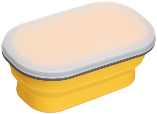 Lexington SNABXS-YEL-129C Small Silicone Collapsible Snack Box - Yellow