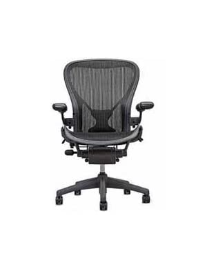 Aeron Chair by Herman Miller - Official Retailer - Highly Adjustable Graphite Frame - with PostureFit - Carbon Classic (Large)