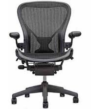 319QjNUFetL Executive Aeron Chair by Herman Miller   Polished Aluminum Frame   Carbon Classic Size C (Large)