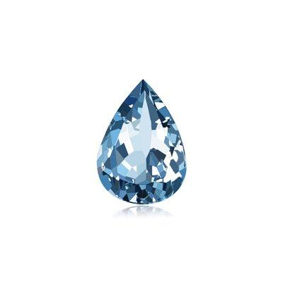 0.28-0.42 Cts of 6x4 mm AAAA (Heirloom) Pear Aquamarine ( 1 pc ) Loose Gemstone