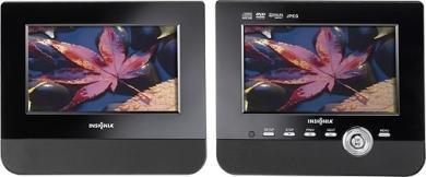 "Insignia - 7"" Dual-Screen Portable Dvd Player"