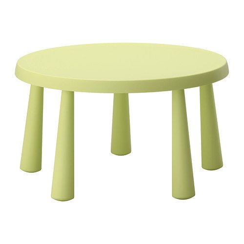 IKEA MAMMUT–Kinder Tisch, Licht grün â £27-85cm