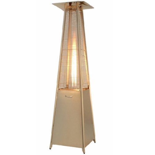 HAUSEN 9.5KW PYRAMID REAL FLAME PATIO GAS HEATER GARDEN/OUTDOOR STAINLESS STEEL