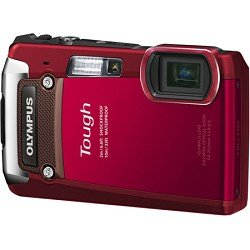 Olympus Tough TG-820 Red iHS Shock and Waterproof Digital Camera (Red)