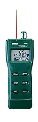 Extech RH401 Triple Display Hygro Thermometer Psychrometer with Built In Infrared Thermometer