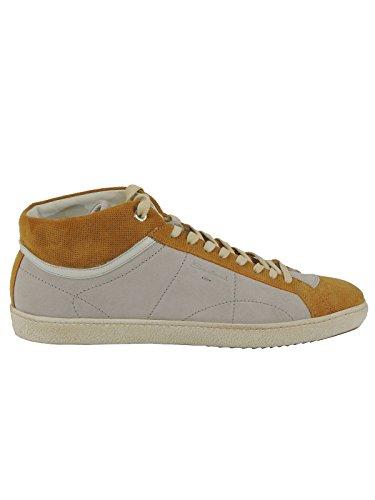Santoni scarpe uomo sneakers alte stringate MBNG11927 (10, GRIGIO)