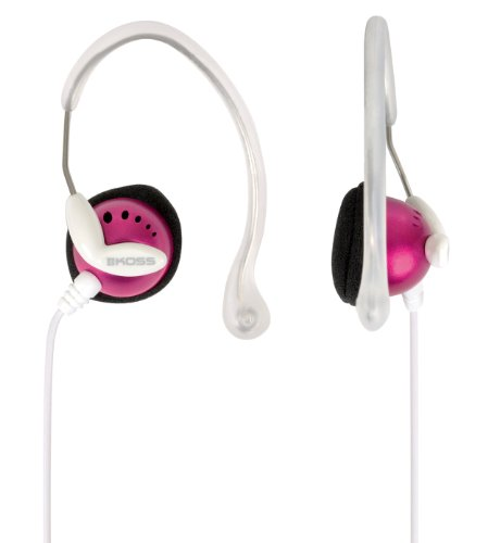 Koss Clipperpnk Clipper Lightweight Clip-On Stereophone With In-Line Volume Control - (Pink)
