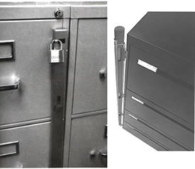 Locking Bar for Use with 4 Drawer Filing Cabinet (cabinet not included)