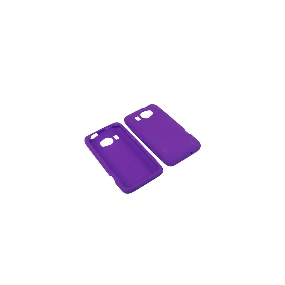 AM Soft Sleeve Gel Cover Skin Case for AT&T HTC Titan II  Purple