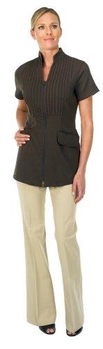 Canyon Rose Esthetician's Tuxedo Front Jacket, Brown, Medium