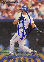 Dean Palmer, Kansas City Royals, 1998 Donruss Autographed Card