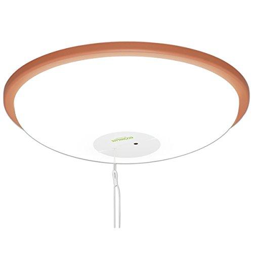 アイリスオーヤマ LEDシーリングライト 4.5~6畳 調光2段階 プルスイッチ 3200lm ブラウン CL6N-WP