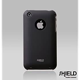 SHIELD Apple 3G iPhone Shield Polycarbonate Slim Fit Case + Microfiber Cleaning Cloth – (Black)