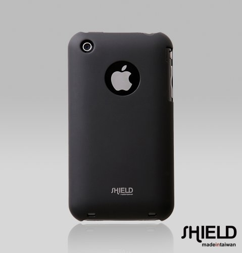 SHIELD Apple 3G 3GS iPhone Shield Polycarbonate Slim Fit Case + Microfiber Cleaning Cloth (Black)