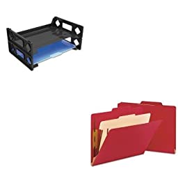 KITSMD13703UNV08100 - Value Kit - Smead Top Tab Classification Folder (SMD13703) and Universal Side Load Letter Desk Tray (UNV08100)