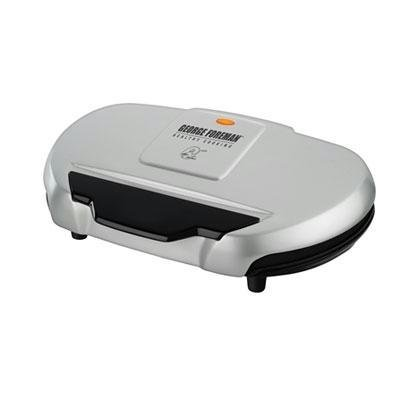 George Foreman GR144 144-Square-Inch Nonstick Family-Size Grill, Silver