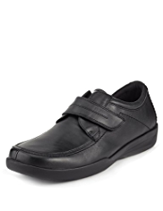 Airflex™ Comfort Leather Extra Wide Riptape Shoes