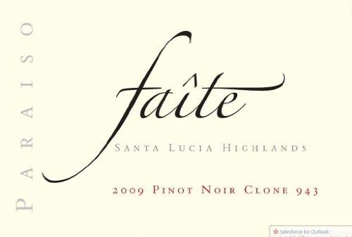 "2009 Paraiso ""Faite"" Pinot Noir Clone Santa Lucia Highlands 943 750 Ml"