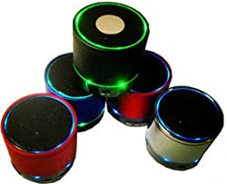 Mini Portable Bluetooth Wireless Speaker with Colorful LED Light and Build-in Mic, Support USB/AUX/TF Card (Multi-colour) for HTC NEXUS 9 PHONES