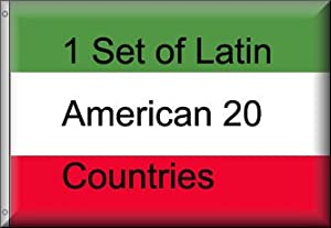 Latin American Flags Complete set of 20
