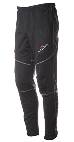 4ucycling Unisex Windproof Athletic Pants for Outdoor and Multi Sports, Black, 2XL (Insulated Biking Pants compare prices)