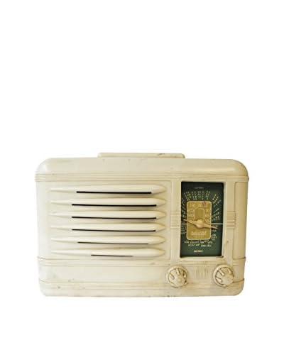 1960s Vintage Packard Bell Radio, Ivory/Green
